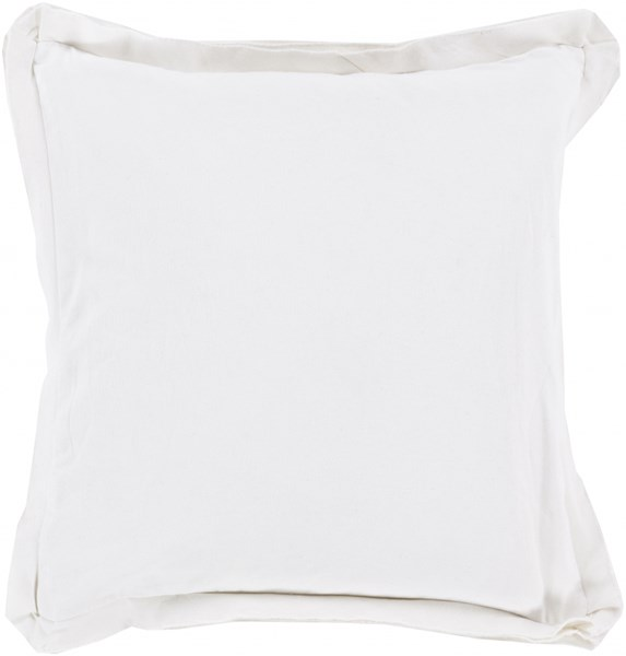 Surya Triple Flange White Pillow Cover - 18x18 TF005-1818