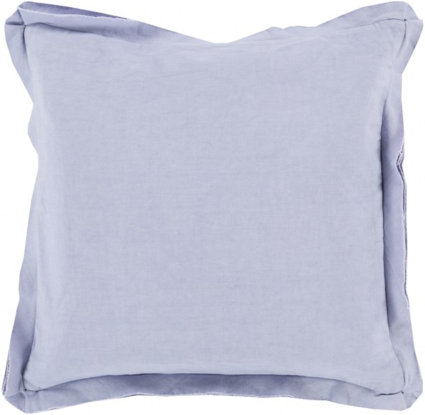 Triple Flange Lavender Down Cotton Throw Pillow - 18x18x4 TF008-1818D