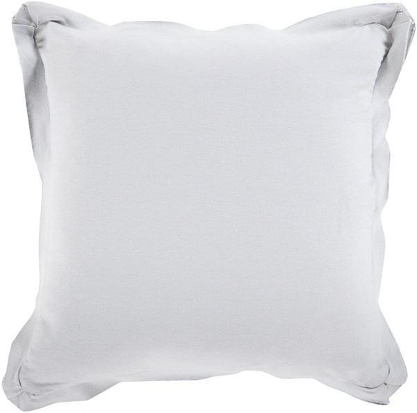 Triple Flange Light Gray Poly Cotton Throw Pillow - 18x18x4 TF011-1818P