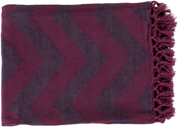 Thacker Modern Eggplant Magenta Cotton Throws THA8003-5070