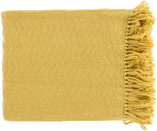 Thelma Contemporary Gold Fabric Solid Throws 14373-VAR1