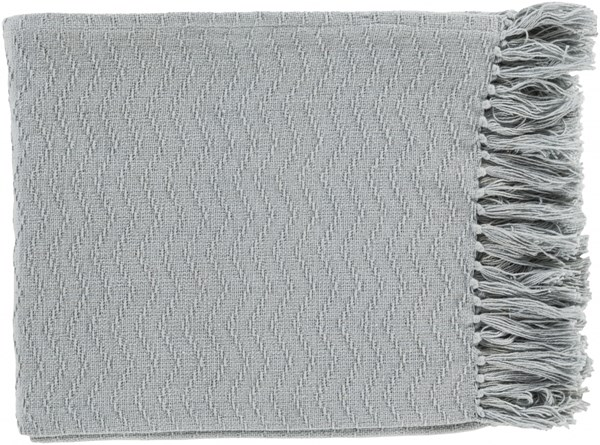 Thelma Contemporary Slate Cotton Rectangle Throws THM6002-5060