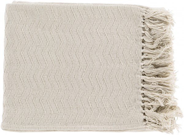 Thelma Contemporary Ivory Cotton Rectangle Throws THM6003-5060