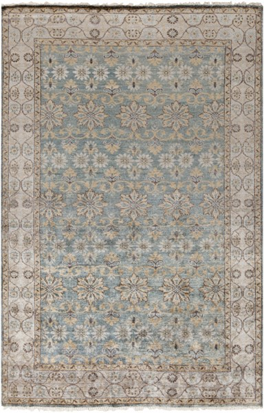 Theodora Light Gray Butter Charcoal Bamboo Silk Area Rug - 60 x 96 THO3002-58
