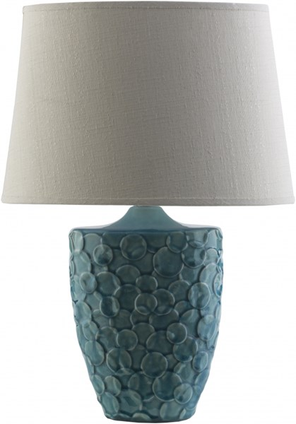 Thistlewood Teal Ceramic Cotton Table Lamp - 8x19.75 THW760-TBL