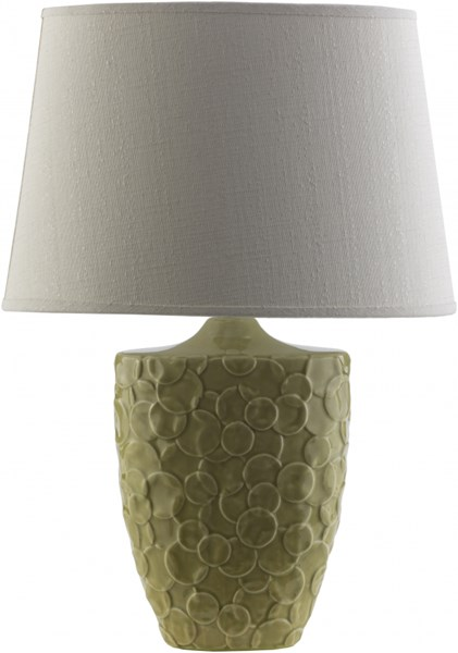 Thistlewood Green Ceramic Cotton Table Lamp - 8x19.75 THW761-TBL