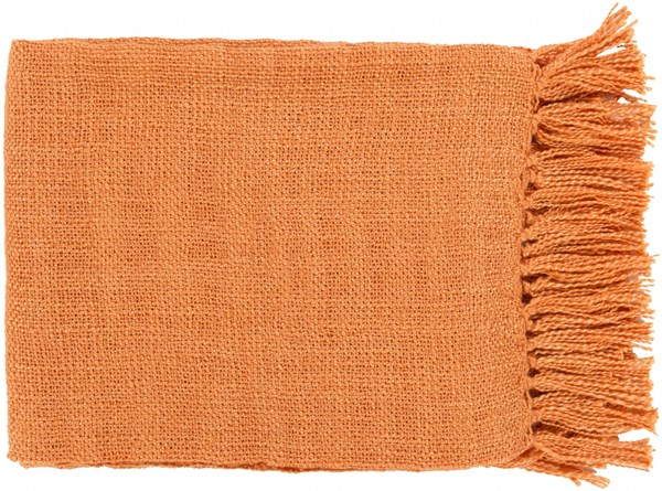 Tilda Traditional Burnt Orange Acrylic Throws TID002-5951