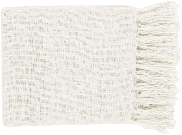 Tilda Traditional Ivory Acrylic Rectangle Throws TID004-5951