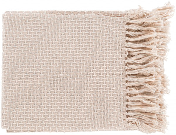 Tierney Traditional Pastel Pink Ivory Cotton Viscose Throws TIE1003-5060