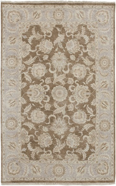 Timeless Chocolate Gray Beige New Zealand Wool Area Rug - 66 x 102 TIM7907-5686