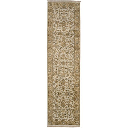 Timeless Beige Plush Pile Rectangle Wool Rug (L 69 X W 45) TIM7909-3959