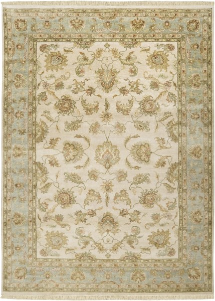 Timeless Beige Moss Light Gray New Zealand Wool Area Rug - 96 x 132 TIM7913-811
