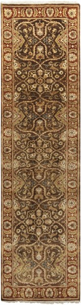 Timeless Olive Gold Chocolate New Zealand Wool Runner - 30 x 120 TIM7920-2610