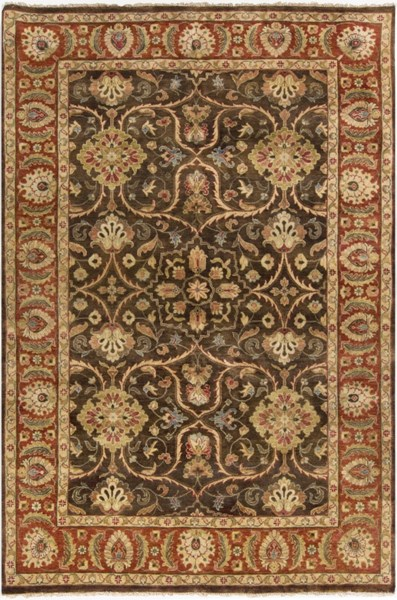 Timeless Olive Gold Chocolate New Zealand Wool Area Rug - 66 x 102 TIM7920-5686