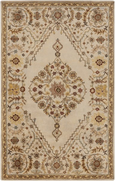 Tinley Beige Lime Taupe Wool Area Rug - 60 x 96 TIN4001-58