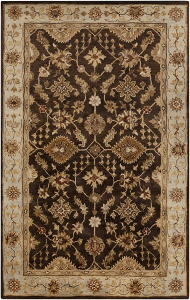 Tinley Chocolate Olive Cherry Wool Area Rug - 60 x 96 TIN4003-58