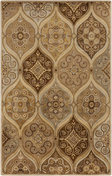 Tinley Lime Taupe Chocolate Wool Area Rug - 60 x 96 TIN4007-58