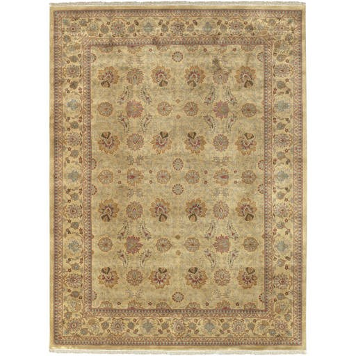 Taj Mahal Plush Pile Rectangle Wool Rug (L 66 X W 45) TJ826-3656