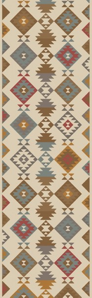 Tallo Rust Cherry Beige Wool Cotton Area Rug - 30 x 96 TLL3002-268