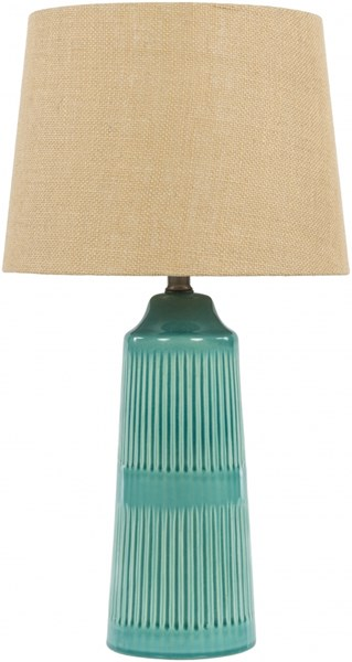 Tellico Blue Ceramic Burlap Table Lamp - 13x23 TLL345-TBL