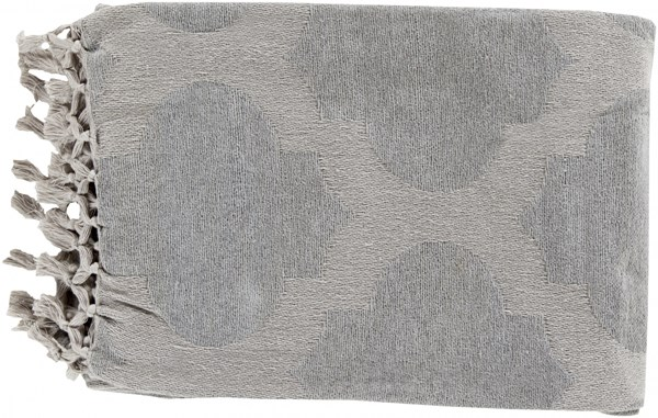 Trellis Modern Light Gray Cotton Rectangle Throws TLS7004-5070