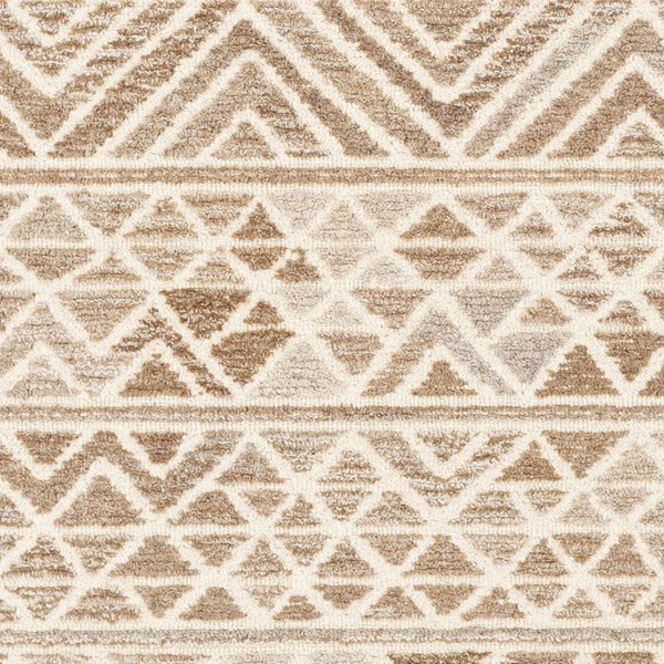 Surya Tahoma Camel Cream Taupe Wool Viscose Sample Area Rugs TMO1000-RUG-VAR