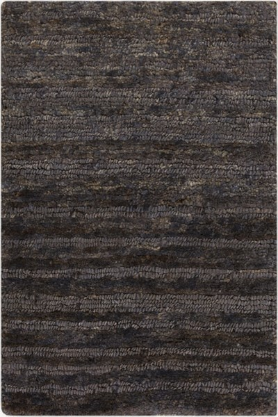 Trinidad Charcoal Tan Ivory Jute Area Rug - 24 x 36 TND1148-23