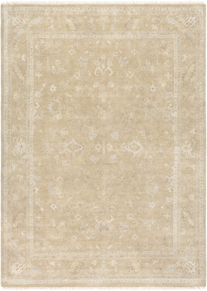 Transcendent Beige Olive Taupe New Zealand Wool Area Rug - 102 x 138 TNS9002-86116