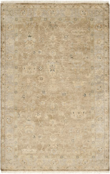 Transcendent Moss Beige Gray New Zealand Wool Area Rug - 66 x 102 TNS9004-5686