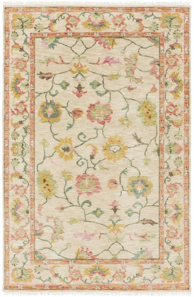 Transcendent Traditional Beige Green Wool - New Zealand Area Rug TNS9010-5686