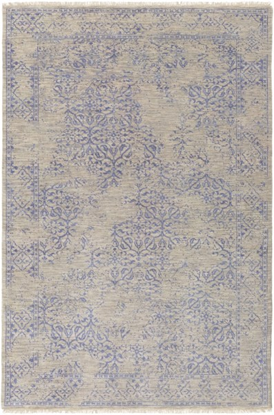 Transcendent Cobalt Light Gray Wool Area Rug - 66 x 102 TNS9013-5686