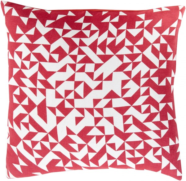 Teori Magenta Ivory Poly Cotton Throw Pillow - 22x22x5 TO004-2222P