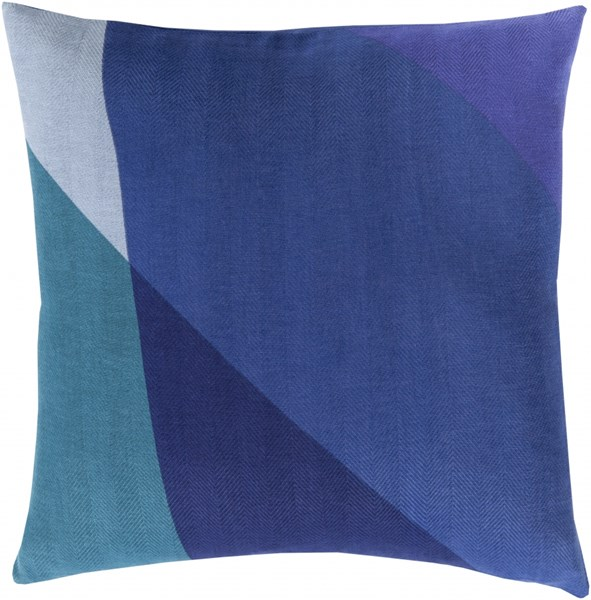 Teori Cobalt Iris Teal Down Cotton Throw Pillow - 22x22x5 TO009-2222D
