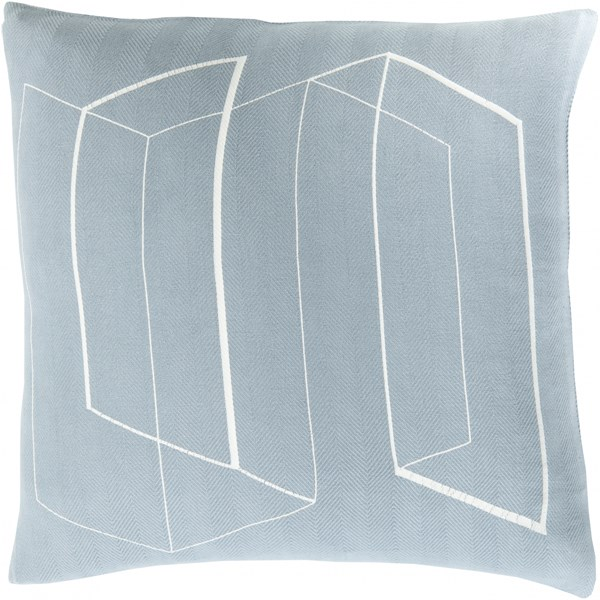 Teori Slate Ivory Down Cotton Throw Pillow - 20x20x5 TO010-2020D