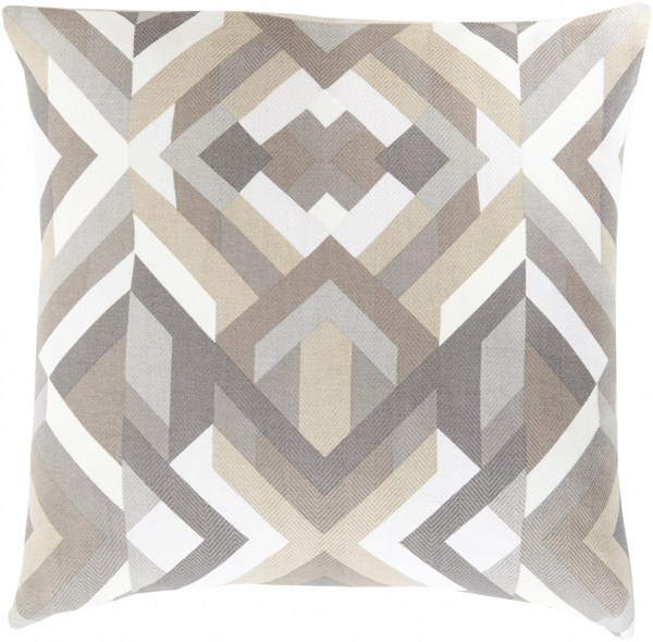 Teori Charcoal Light Gray Olive Down Cotton Throw Pillow - 20x20x5 TO016-2020D