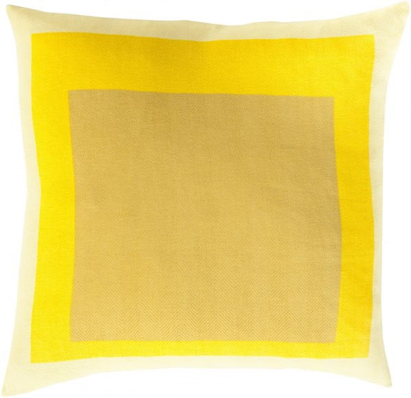 Teori Gold Sunflower Butter Poly Cotton Throw Pillow - 18x18x4 TO022-1818P