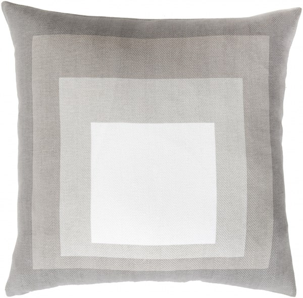 Teori Ivory Gray Charcoal Fabric Throw Pillow (L 22 X W 22 X H 5) TO025-2222D
