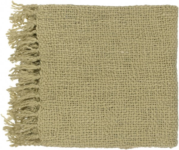 Tobias Traditional Olive Acrylic Wool Throws TOB1004-5171