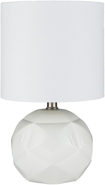 Surya Thorn White Linen Table Lamp - 9x15 TON-001