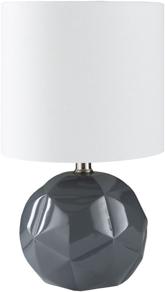 Surya Thorn Charcoal White Linen Table Lamp - 9x15 TON-002