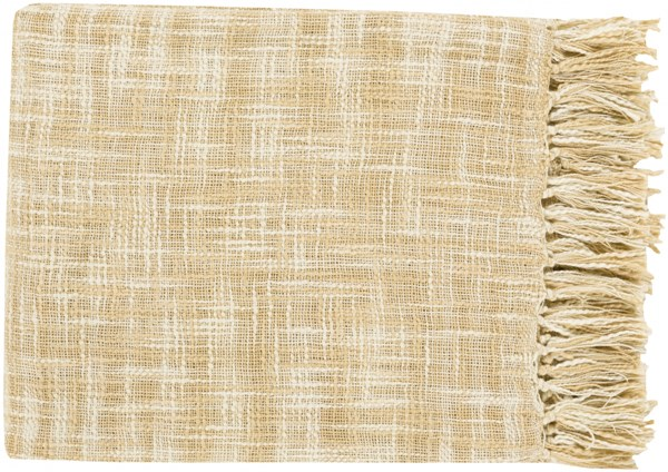 Tori Traditional Ivory Butter Cotton Throws TOR002-4959