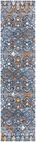 Surya Topkapi Ink Burnt Orange Navy Polyester Polypropylene Runner - 123x31 TPK2300-27103