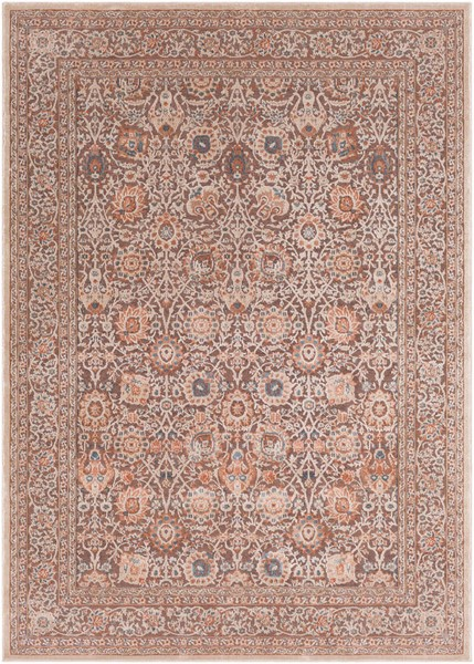 Surya Topkapi Aqua Navy Burnt Orange Polyester Polypropylene Area Rug - 87x63 TPK2308-5373