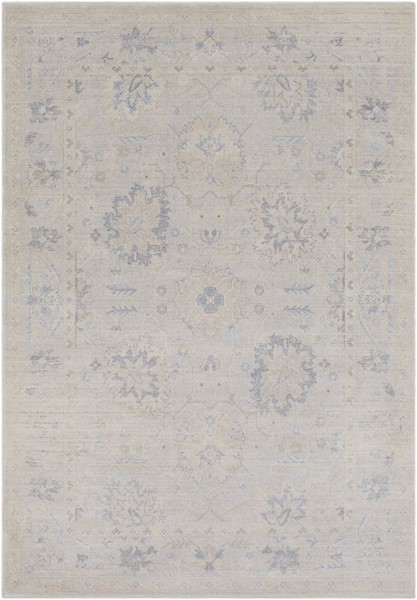 Surya Tranquil Cream Taupe Gray Polypropylene Polyester Area Rug - 90x60 TQL1001-576
