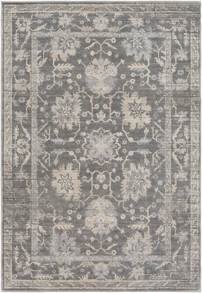Surya Tranquil Taupe Gray Cream Polypropylene Polyester Area Rug - 120x96 TQL1002-810