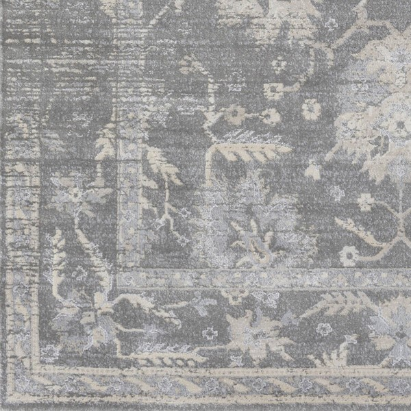 Surya Tranquil Taupe Gray Cream Polypropylene Polyester Sample Area Rug - 18x18 TQL1002-1616