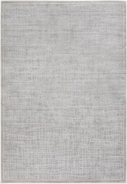 Surya Tranquil Light Gray Cream Taupe Polypropylene Polyester Area Rug - 120x96 TQL1003-810