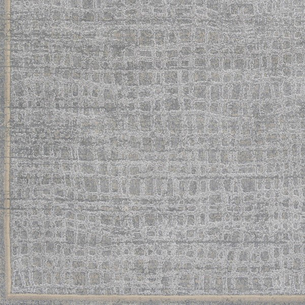 Surya Tranquil Light Gray Taupe Cream Polypropylene Polyester Sample Area Rug - 18x18 TQL1004-1616