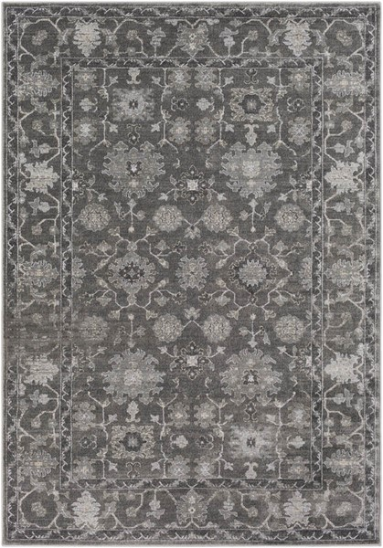 Surya Tranquil Gray Cream Taupe Polypropylene Polyester Area Rug - 90x60 TQL1005-576