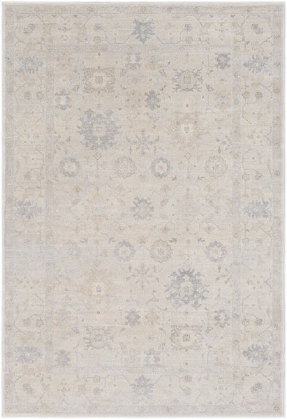 Surya Tranquil Cream Taupe Light Gray Polypropylene Polyester Area Rug - 90x60 TQL1006-576